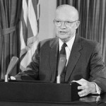 Dwight Eisenhower was the first to warn of the Military-Industrial complex.