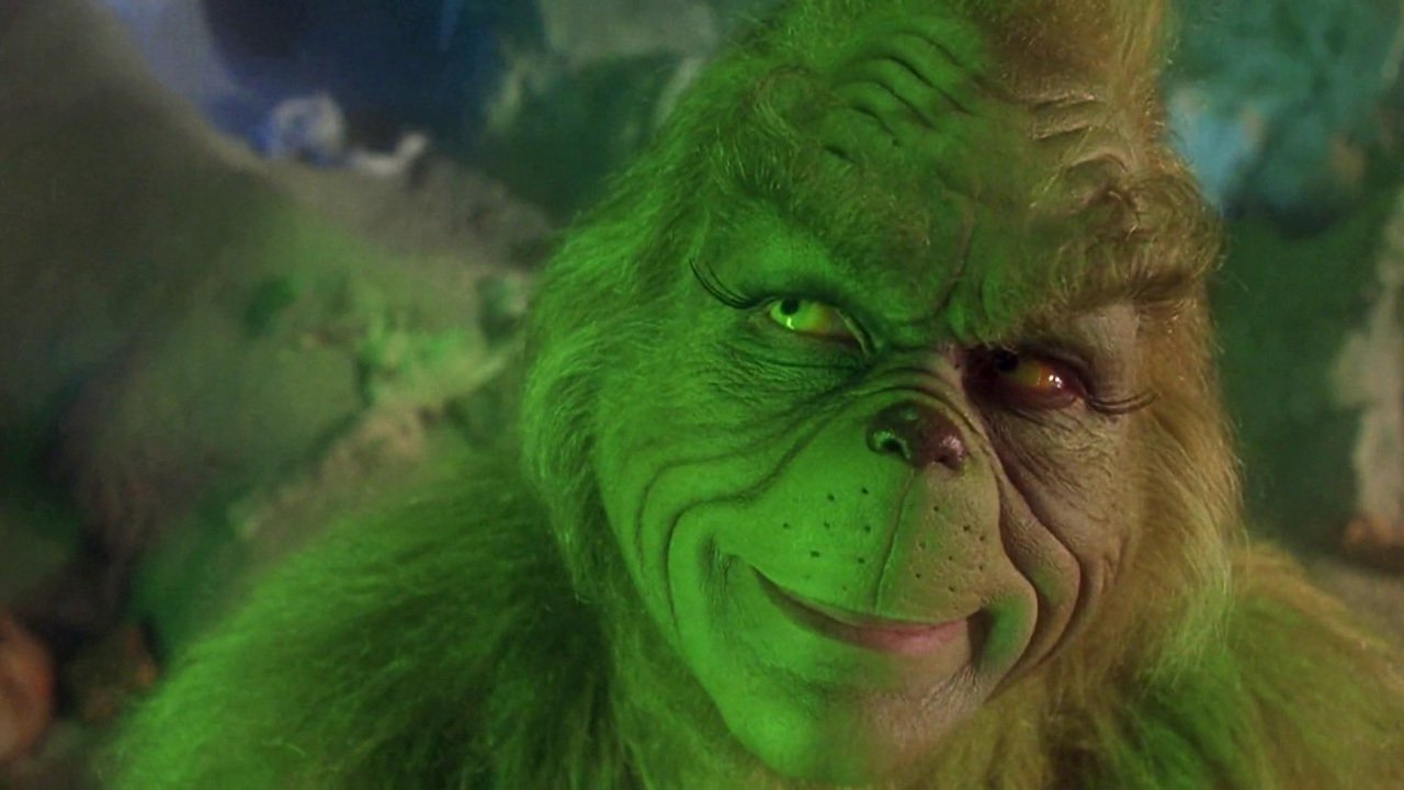 "Jim Carrey as the Grinch in ""Dr. Seuss' How the Grinch Stole Christmas"" (2000) , Directed by Ron Howard (Universal)."